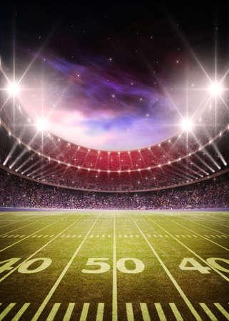 goalpost: American football stadium
