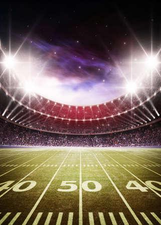 Rugby ball: Estadio de fútbol americano Foto de archivo