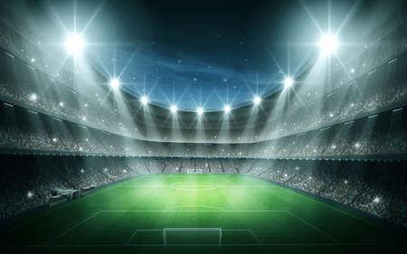 field  soccer: estadio Foto de archivo