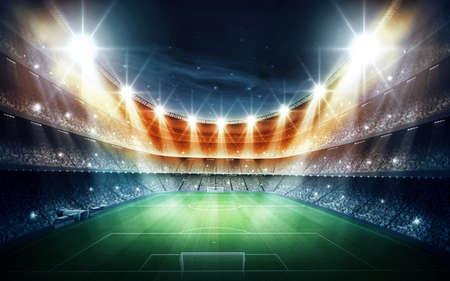 football background: stadium