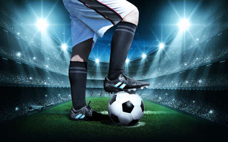 terrain foot: concept de football