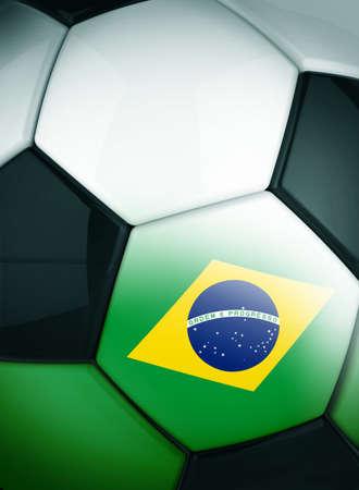 bandera honduras: El balón de fútbol concepto Brasil