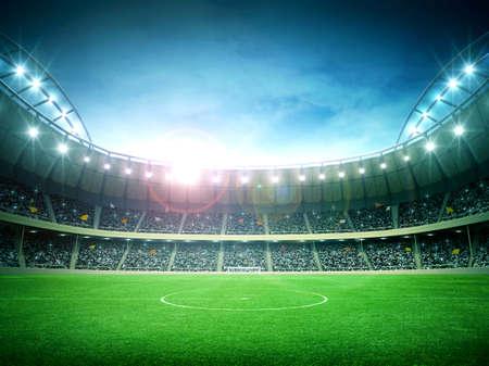 futbol soccer: estadio Foto de archivo