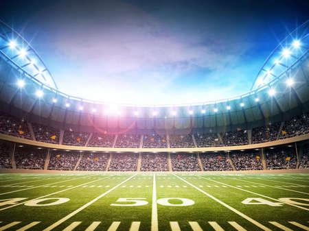 football play: Stadio di football americano Archivio Fotografico