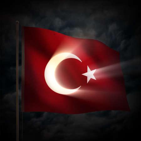 blue stars: Turkish flag