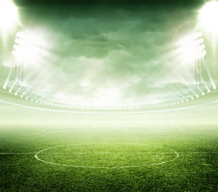 soccer sport: light of stadium