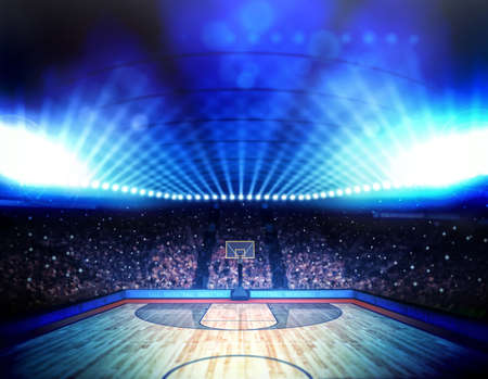 basket ball: Basketball arena Stock Photo