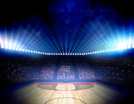 light game: Basketball arena Stock Photo