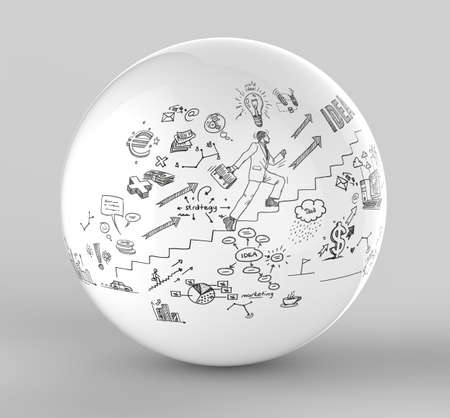 Business doodles sphere photo