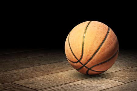 床の上のバスケット ボール