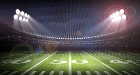 american football field: stadium