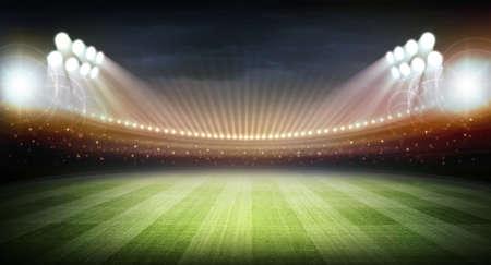 baseball field: Stadium at night Stock Photo