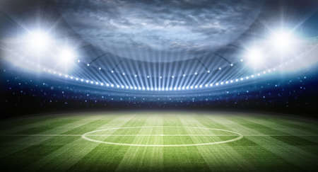 green field: Stadium Stock Photo