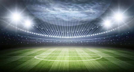 metas: Estadio Foto de archivo