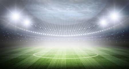 soccer fans: Stadium Stock Photo