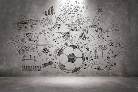 voetbal doodle Stockfoto