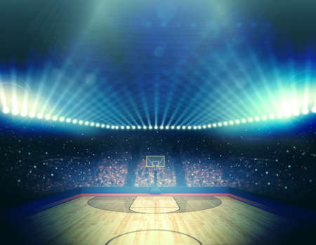 cancha de basquetbol: Baloncesto Arena  Foto de archivo