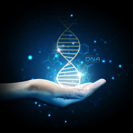 blue dna: Dna on hand