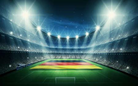 bandera alemania: Alemania estadio Foto de archivo