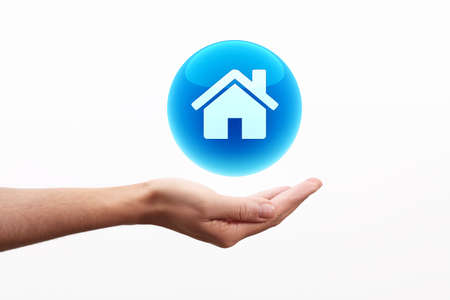 nternet: Home icon on hand