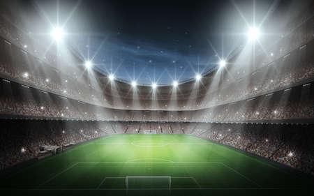 terrain foot: Stade Banque d'images