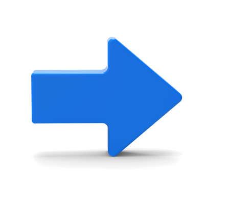 flecha: 3d s�mbolo de la flecha azul
