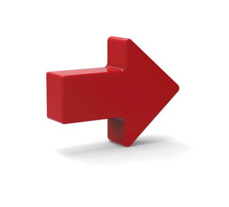 flecha direccion: 3d s�mbolo de la flecha roja