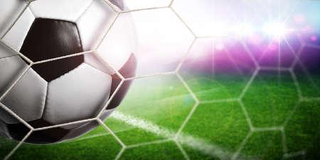 soccer stadium: Goal Stock Photo