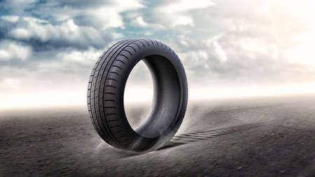 car wheels: Tire Stock Photo