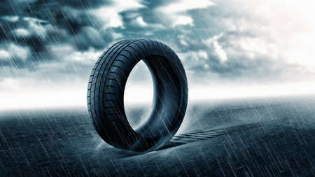 radial tire: Tire with Raining