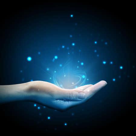 Magic in hand Foto de archivo