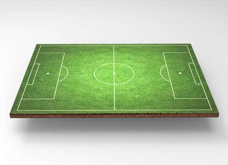 soccer field grass: soccer field