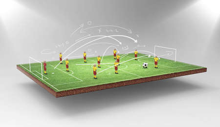 soccer field: Soccer tactics Stock Photo