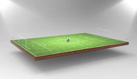 サッカーの背景 写真素材