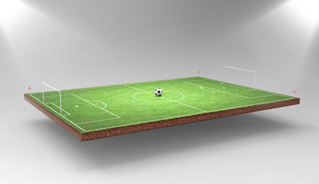 soccer pitch: Soccer background Stock Photo