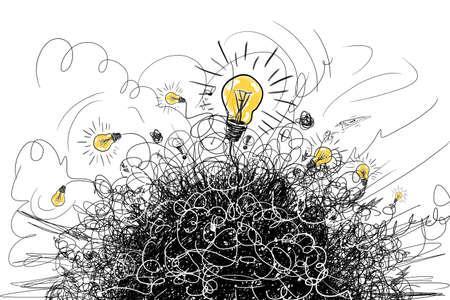 brainstorm concept 스톡 콘텐츠