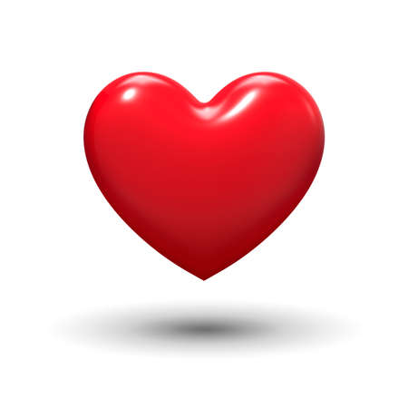 isolated: Heart shape-Love Stock Photo