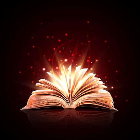 a legend of magic: Magic book with magic lights