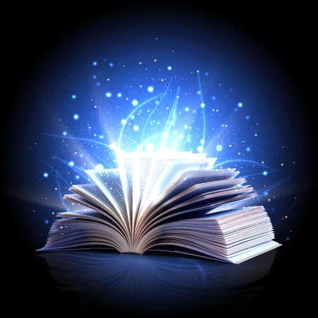 Magic book Stock Photo