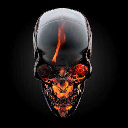 death metal: Fire skull