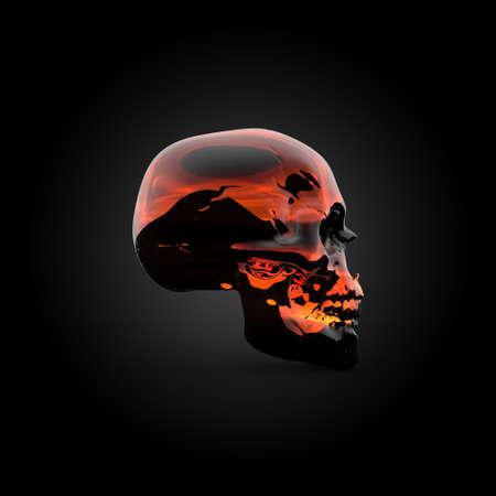 Fire skull photo