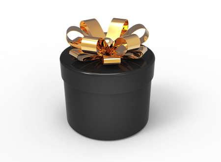 Cylinder black gift box photo