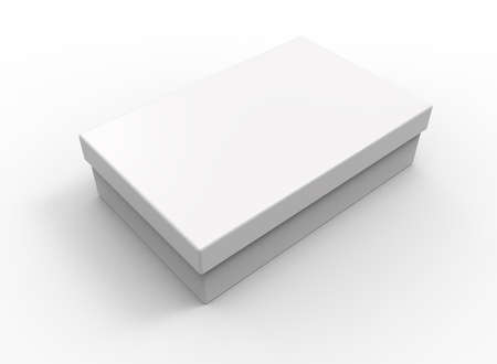 chocolate box: White box, rectangular shape