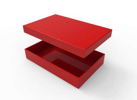Red box, rectangular shape photo