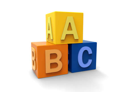 3d alphabet blocks photo