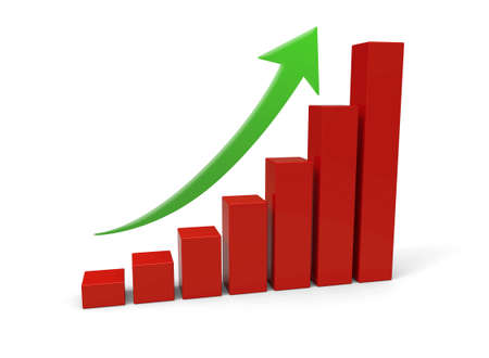 3d rising graph photo