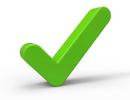 green check mark: 3d Green Check Mark