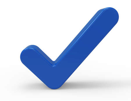 3d Blue Check Mark Stock Photo