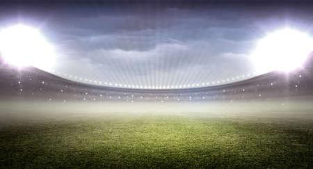 nighttime: estadio Foto de archivo