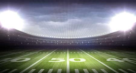 floodlit: stadium